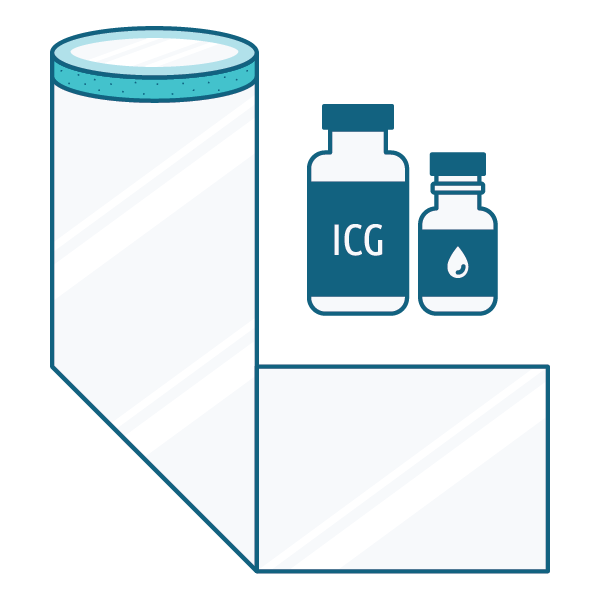 icg drape kit sterile water icons